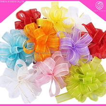 Easy to use paper flowers decoration pull bow ribbon at reasonable prices , OEM available