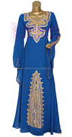 Adorable Latest Women Chiffon Fancy Long Kaftan Farasha Dress For Womens From India