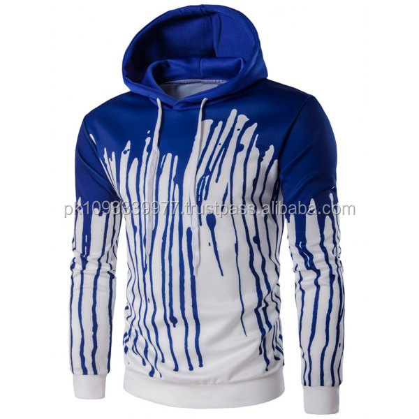 Custom Men'S High Quality sublimation American Style Hoodies Splatter Print Pullover Hoodie