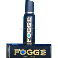 Fogg Fresh Aromatic Body Spray Deodorant For Men, Black, 120ml