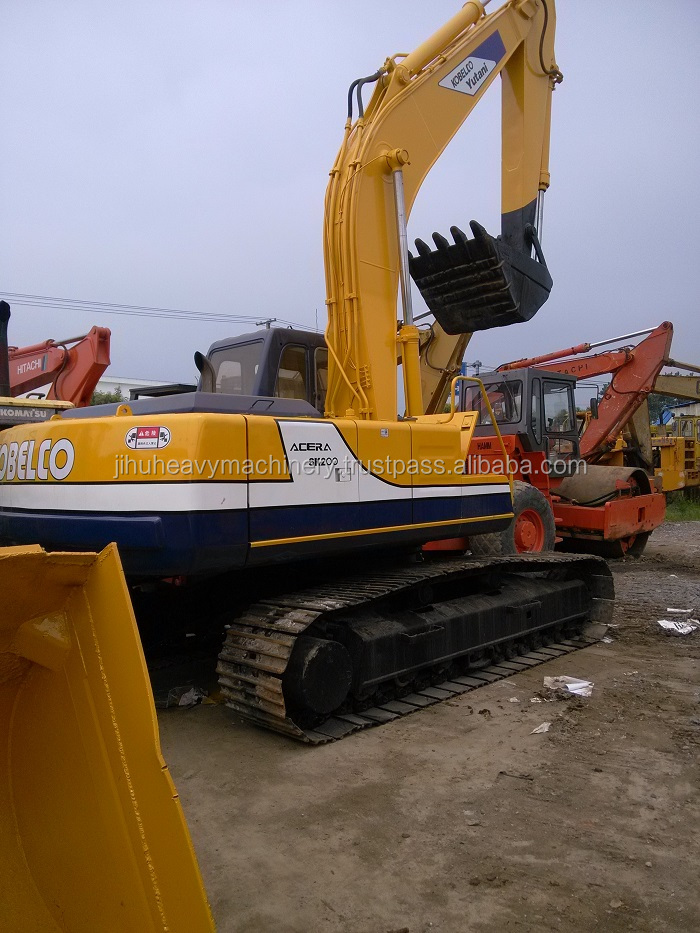Yellow_paiting SGS_certificate original kobelco sk200-3 hydraulic crawler excavator for sale
