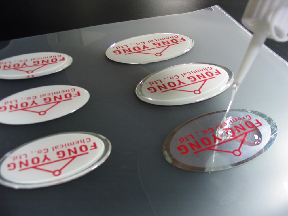 two component outdoor use flexible water clear yellowing resistance polyurethane pu glue resinFor sticker doming