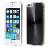 2016 New Arrival Metallic CD Veins Plastic Hard Case for iPhone SE 5s 5 - Black