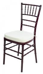 Wooden Mahogany Chiavari Chairs (removable seat pad)