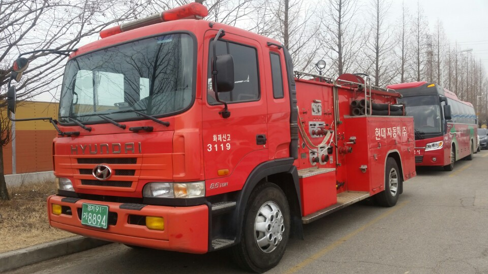 ONLY 15000km 2000Y USED HYUNDAI FIRE TRUCK for sale in Korea