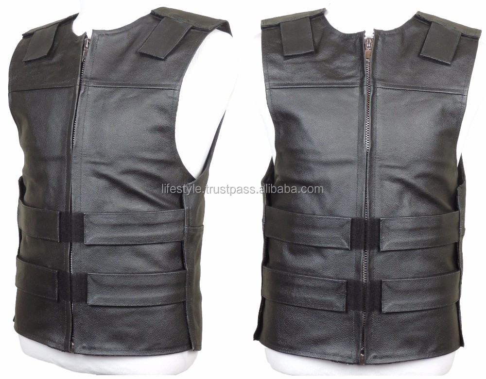 men stylish vest men leather biker vest western style waistcoat vests biker leather vest