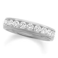 Modern 1 CT 14K white gold Diamond rose diamonds ring curved wedding rings
