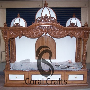 Exquisite Wood Temple carved from Teak Wood