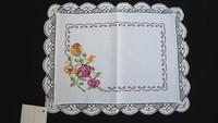 White Linen Placemat/ Table mat - Totally handmade - Pack with 04 Pieces