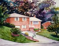 Customize Home Housewarming Art Portrait Painting Drawing