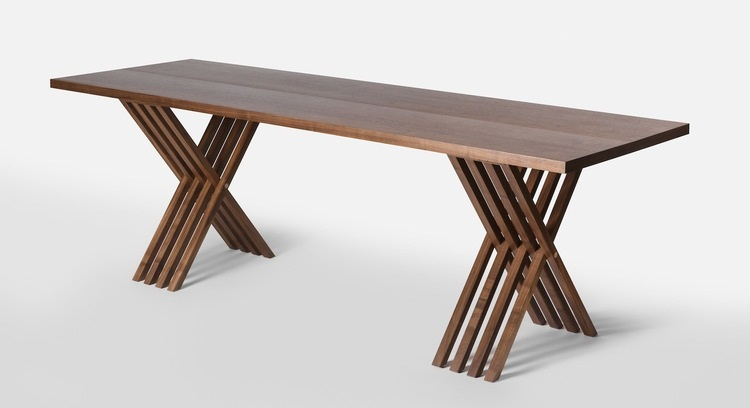 Slim and steller teak folding table