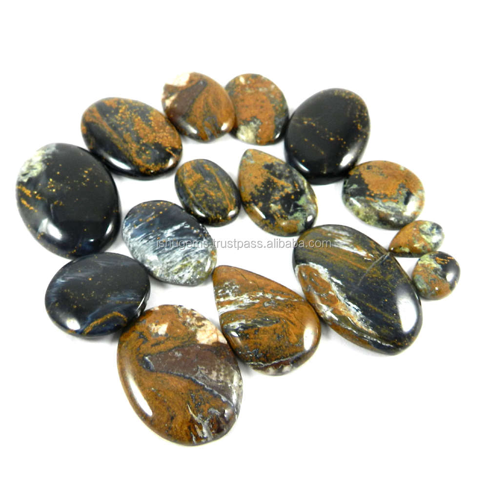Hot Sale ! 15 Pcs pietersite jasper 100 gms Mix Cabochon, semi precious gemstone IG1643