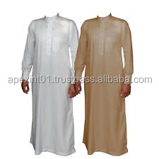 -Muslim Men's thobe thoub thaub thawb - custom 100% cotton fashionable Mens thobe