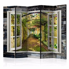 Folding screen 'Secret Garden II' decorative room divider for hotels, offices, house