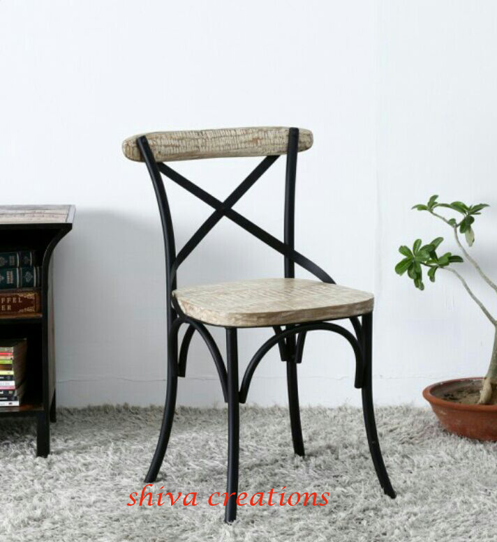 Vintage industrial metal chair