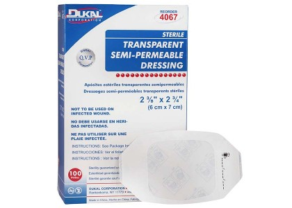 TRANSPARENT SEMI-PERMEABLE DRESSINGS
