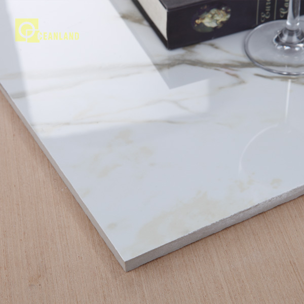 inkjet polished glazed white marble tile floor ceramic tiles