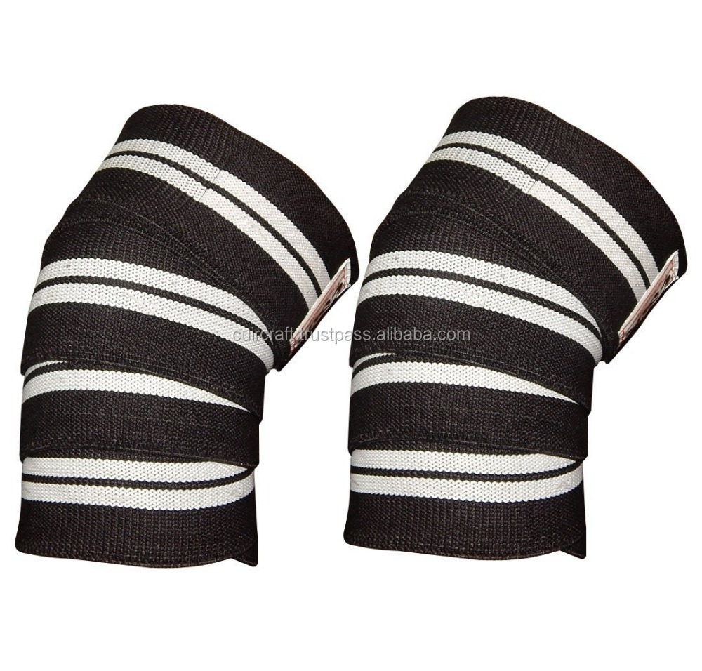 Weight Lifting Knee Wraps/ Heavy Duty Elastic Knee Wraps