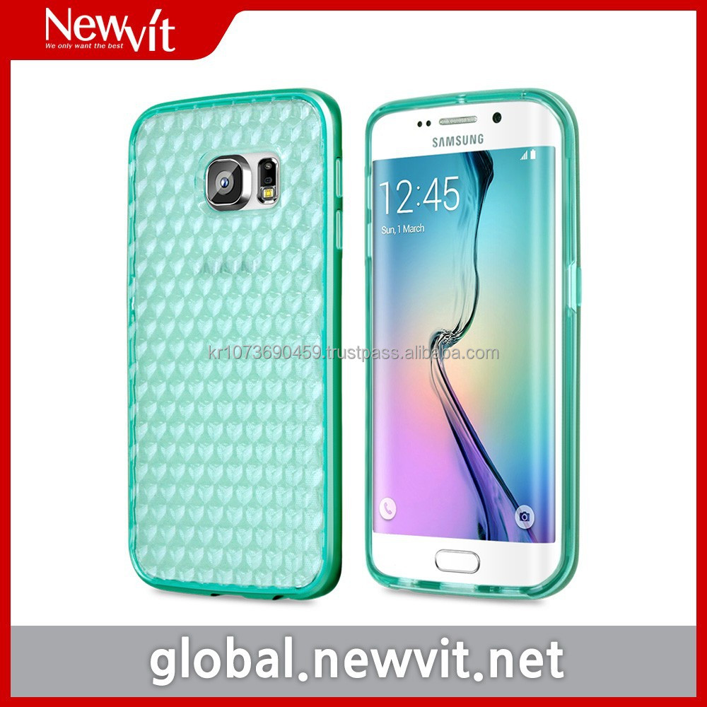Clear Bumper for Galaxy S6 edge / Shock-absorbing TPU case + Individual PC side bumper