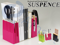 Arnest office school supplies desk organizer books stationery storage containers cases stands 2 boolends set 75636