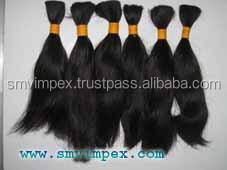 Hot sellingOne donor hot selling remy bulk human hair from india.Quality remy bulk hair from india only 100% unprocess hair only
