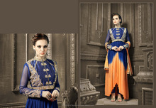 Indo Western Dress Suit/Georgette And Banglori Silk Pakistani Churidar Salwar Suit/Party Wedding Dress Online Shopping In India