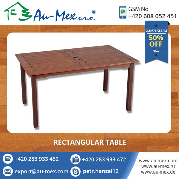 50% Discount Price Solid Wood Rectangular Table for Limited Period