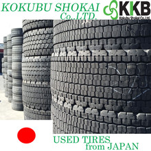 Japanese Reliable and Major Brands solid rubber truck tyres, used tires & casings with high performance