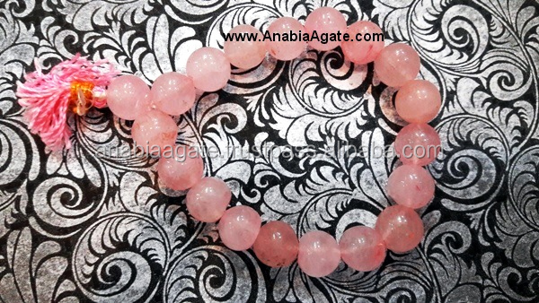Rose Quartz Power Bracelets : Agate Beaded Bracelets