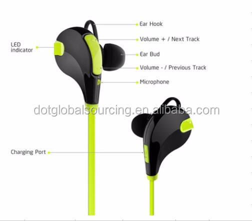 Fashion Sport running Earphone Studio with Microphone in earphone