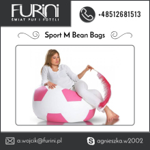 Medium Size Sport Bean Bag with Extremely Soft Ecoleather Material