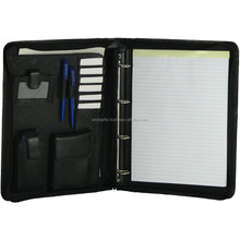 Business Office Leather Manager Multi - function folder A4 leather business conference file folder manager portfolio signature