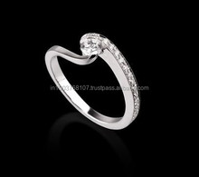 Real Natural Solitaire Diamond Engagement Ring in 14k Gold @ Best prices and shipping world wide