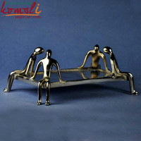 Designer handicraft brass table place holder office desk decoration