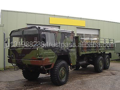 USED TRUCKS - MAN 7 TON 6X6 EXARMY STAKE BODY TRUCK (LHD 8957)