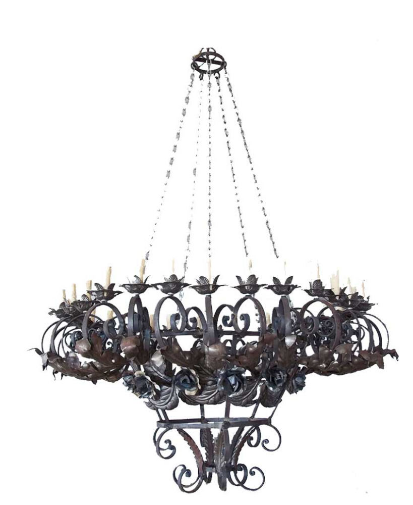 Entrance Wrought Iron Chandelier
