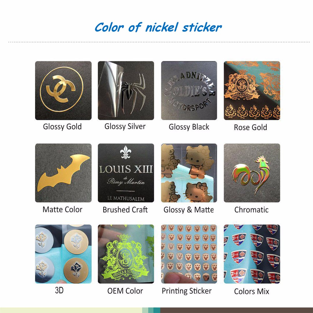 color of metal sticker