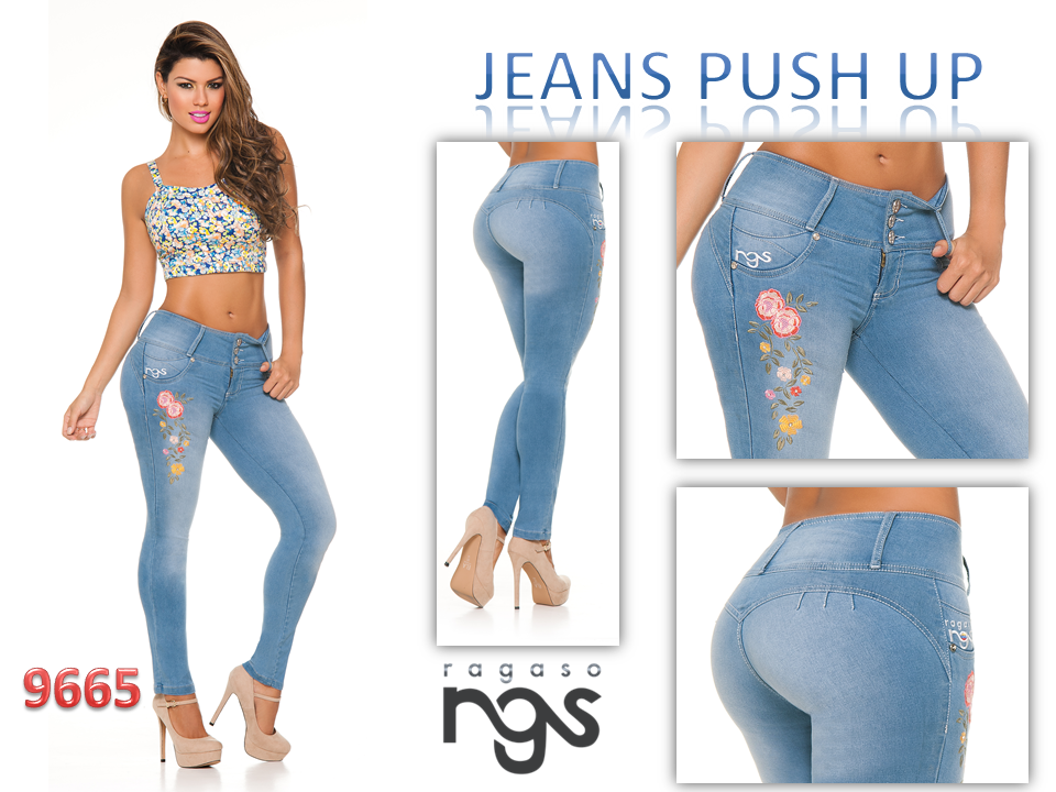 Best seller New Style Lady Blue Jeans Push Up Stretch Skinny Jeans colombian