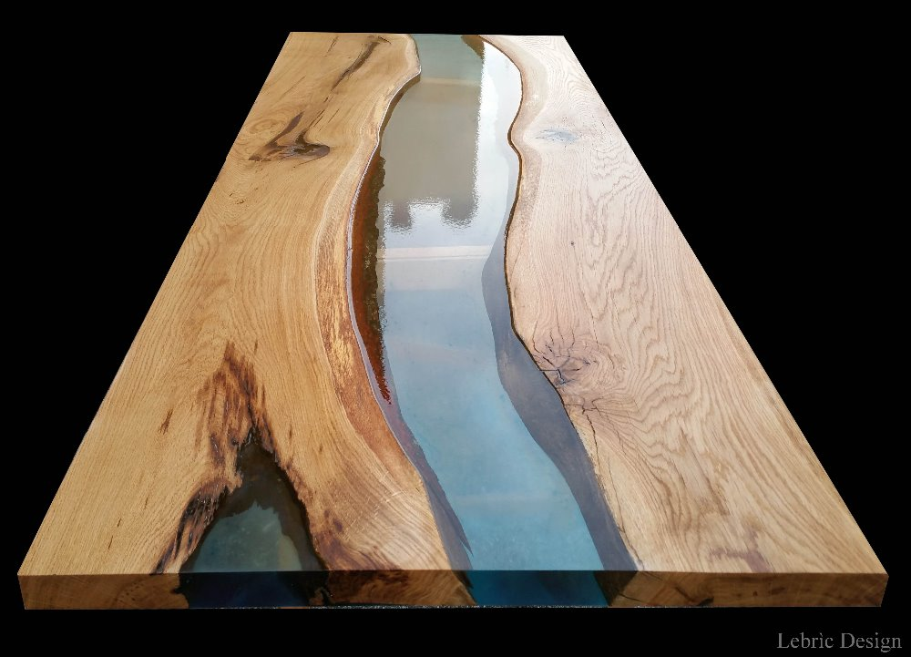 Resin and wood tables