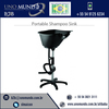 High Quality Material Sink Portable Shampoo Chair and Bowl Facile