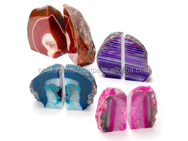 BOOKENDS MADE OF AGATE FROM BRAZIL
