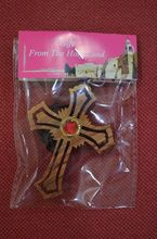 wooden cross necklace/olive wood bethlehem holy land hand made Israel cross necklace with holy soil or incense