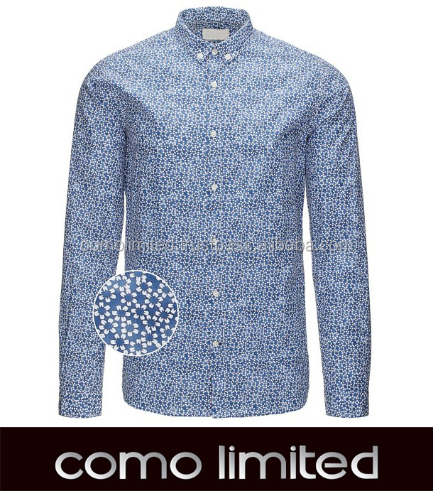 100% Cotton Flower Printing Man Shirt