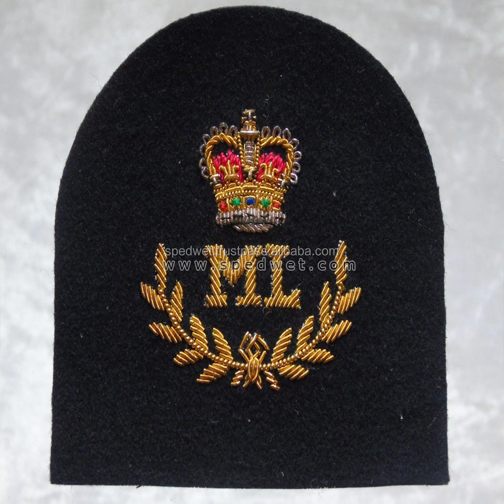 Royal marines commando mountain leader class 1 officers uniform blazer badge