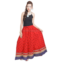 jaipur rajasthan beautiful red skirt in wholesale 518