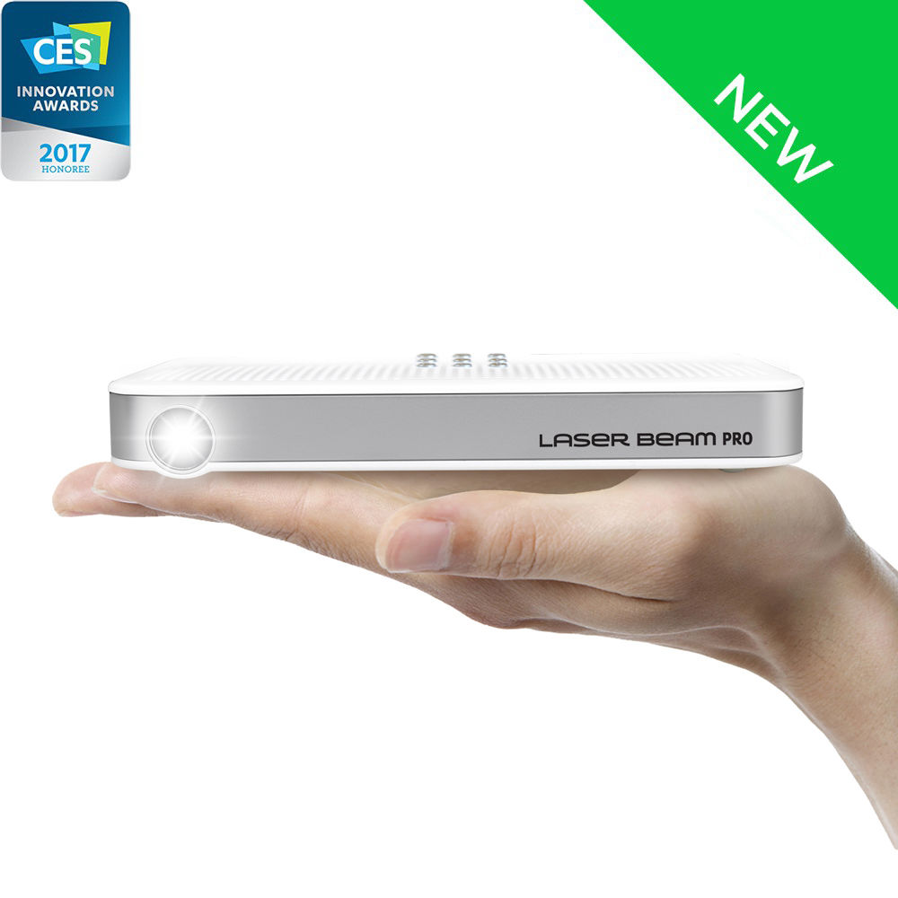 Hot & New!!! Laser Beam Pro C200, Newest 2017 Model, Focus Free, Android Powered, 200 lumen, Full HD Output & 4K Support