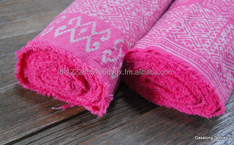 Pink Hand Printed New Hmong Batik Fabric