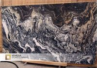 BLACK MARBLE WITH GOLD WHITE VEINS NERO PICASSO,