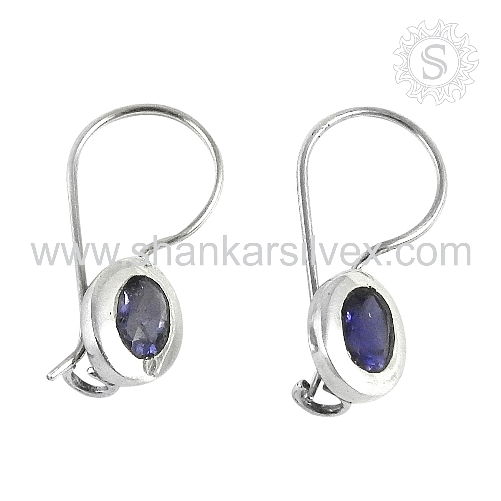 Artisan Of Iolite Handmade Silver Jewelry Earring Wholesaler 925 Sterling Silver Jewelry Supplier Jaipur