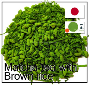 Japanese healthy and fragrant brown rice matcha tea in OEM bag or can